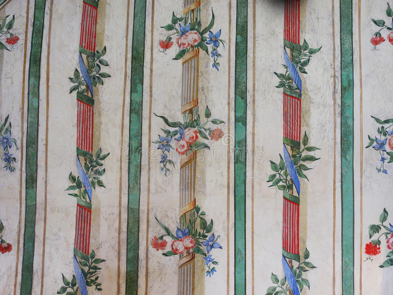 Papel pintado floral del vintage fotografía de archivo