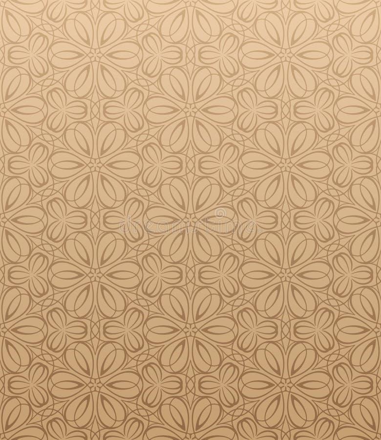 Papel pintado floral inconsútil stock de ilustración