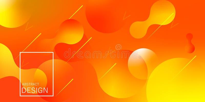 Papel pintado geométrico La pendiente flúida forma la composición libre illustration