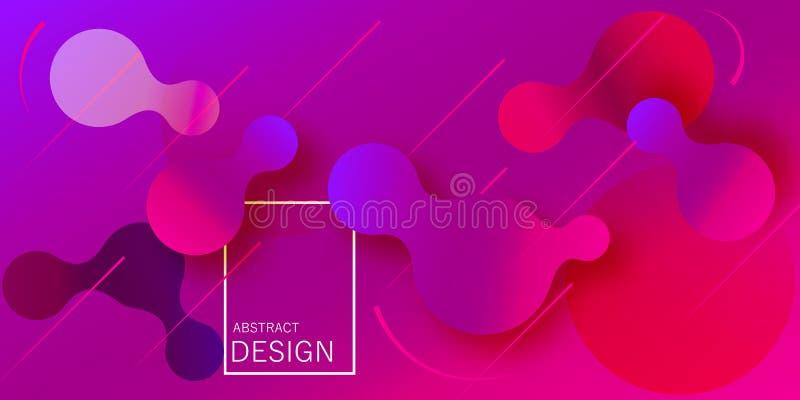 Papel pintado geométrico La pendiente flúida forma la composición ilustración del vector