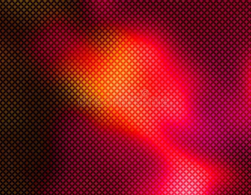 Papel pintado geométrico rojo del fondo stock de ilustración