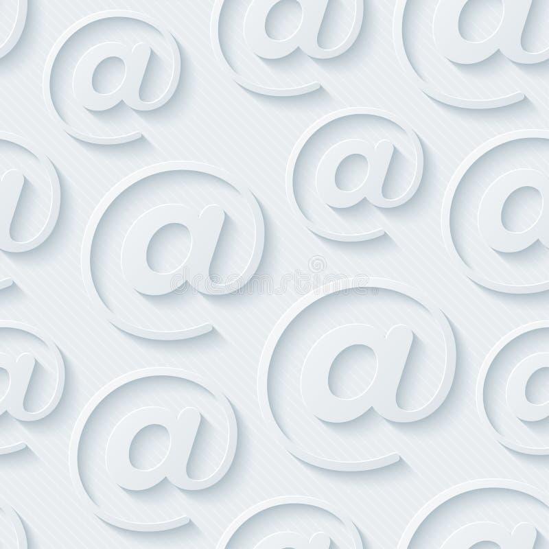 Papel pintado gris claro del email stock de ilustración