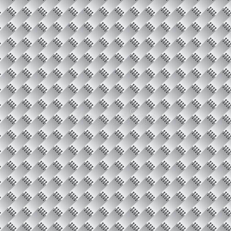 Papel pintado inconsútil abstracto (colores del Grayscale) stock de ilustración