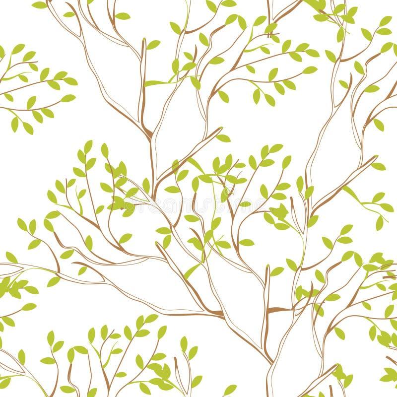 Papel Pintado Inconsútil Con Las Ramificaciones De árbol Fotos de archivo libres de regalías