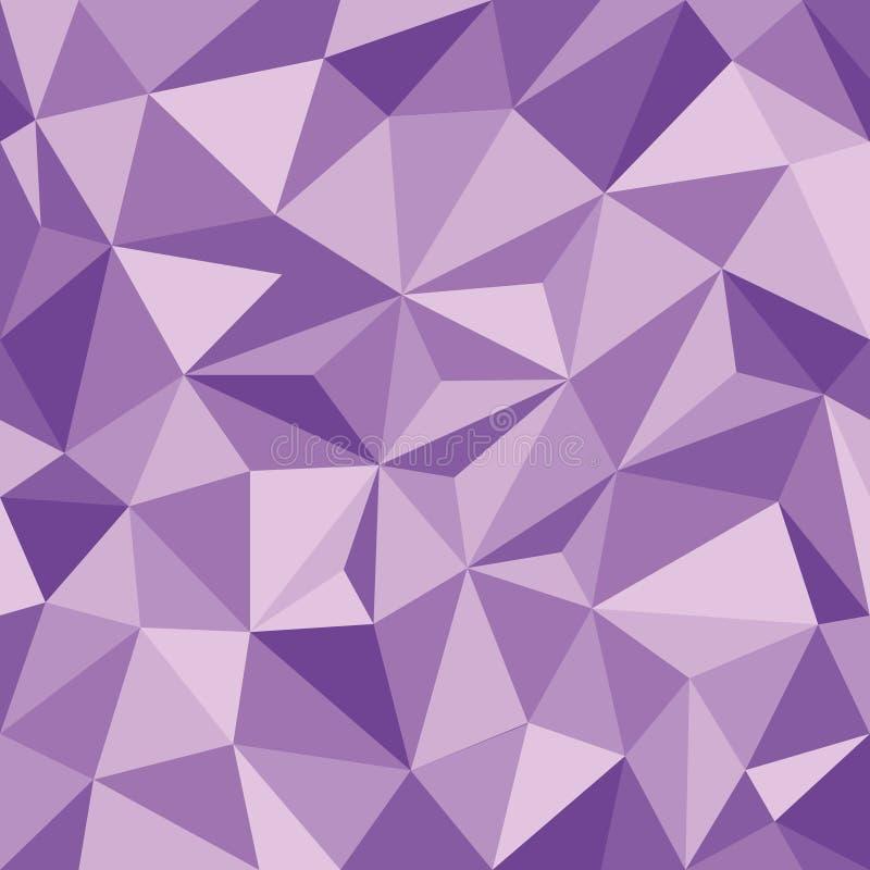 Papel pintado inconsútil con los triángulos púrpuras de la pendiente ilustración del vector