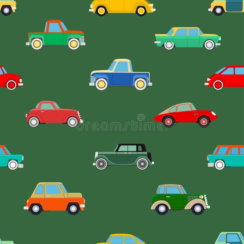 Papel pintado inconsútil de coches ilustración del vector
