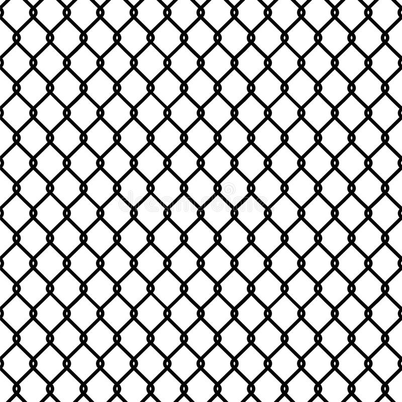 Papel pintado inconsútil de la textura del modelo de la cerca de la alambrada libre illustration