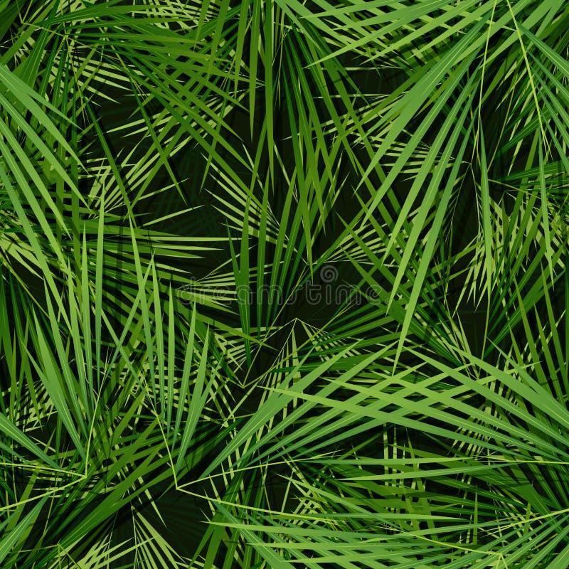Papel pintado inconsútil de las hojas de las palmeras libre illustration