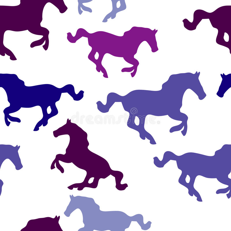 Papel pintado inconsútil del caballo stock de ilustración