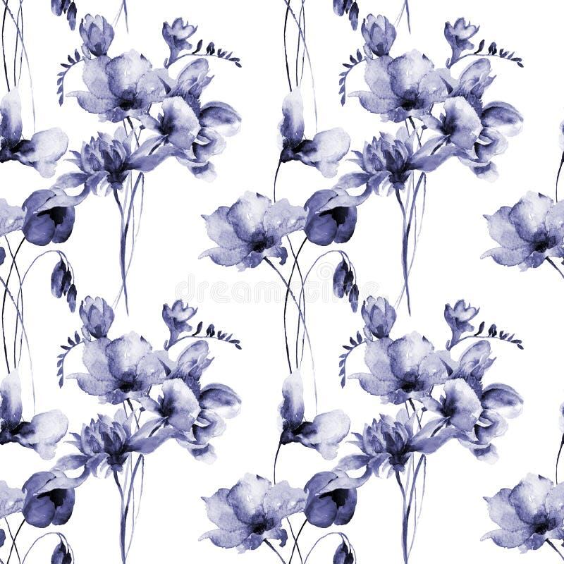 Papel pintado inconsútil floral ilustración del vector