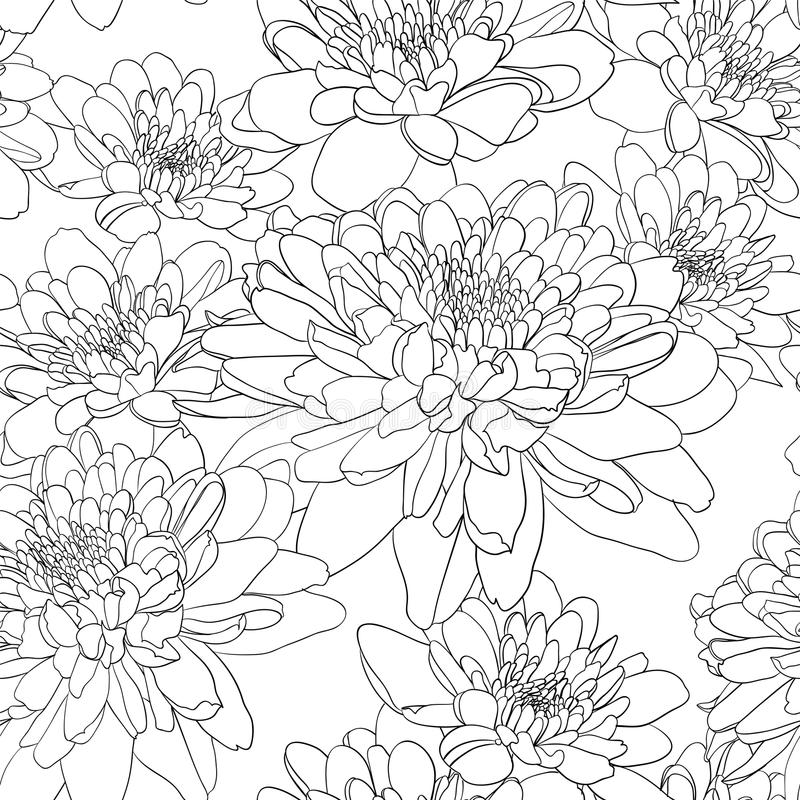 Papel pintado inconsútil floral stock de ilustración