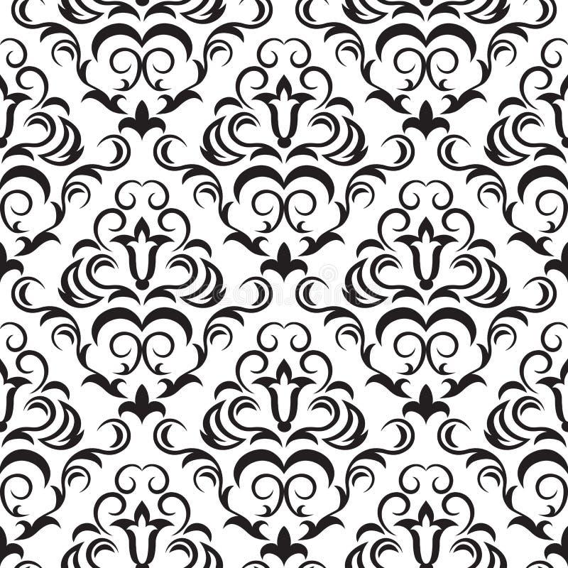 Papel pintado inconsútil negro ilustración del vector