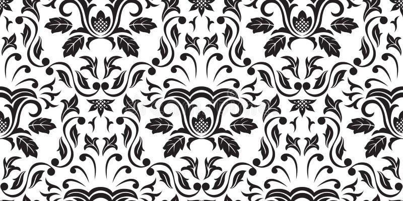 Papel pintado inconsútil negro stock de ilustración
