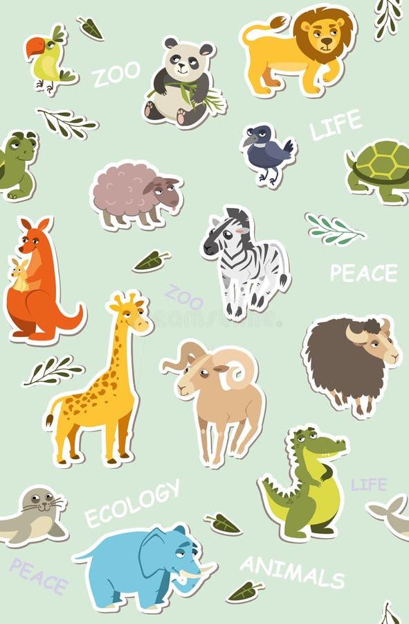 Papel pintado inconsútil para los niños Ilustración del vector libre illustration