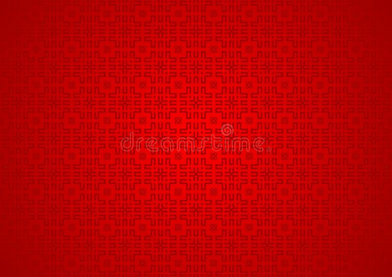 Papel pintado islámico árabe chino ornamental oriental abstracto rojo del fondo de la textura del modelo del festival stock de ilustración
