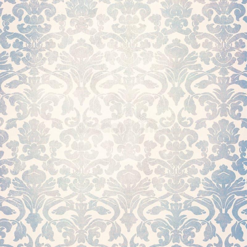 Papel pintado lamentable retro gris ilustración del vector