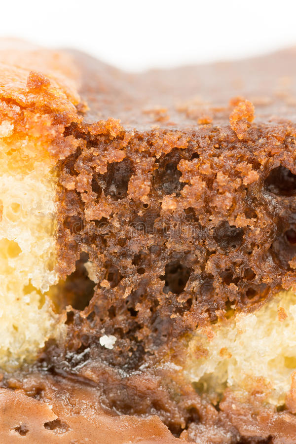 Papel pintado macro del talud de torta de chocolate fotografía de archivo