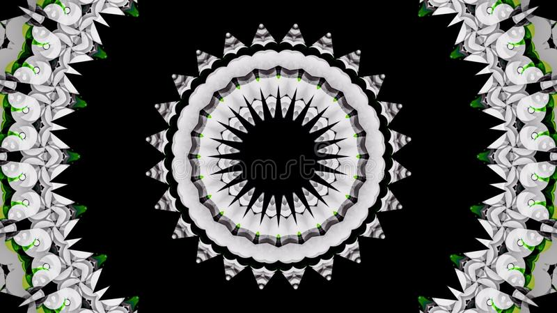 Papel pintado negro blanco del color del verde de la flor del extracto fotos de archivo