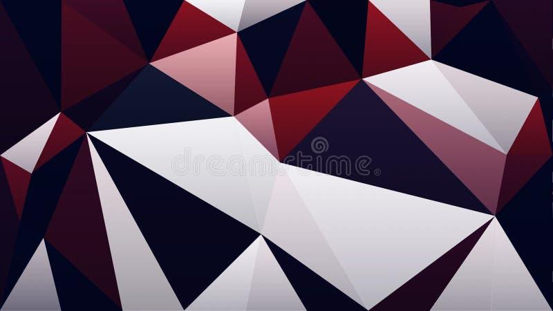 Papel pintado negro blanco rojo abstracto del triángulo del polígono del color libre illustration