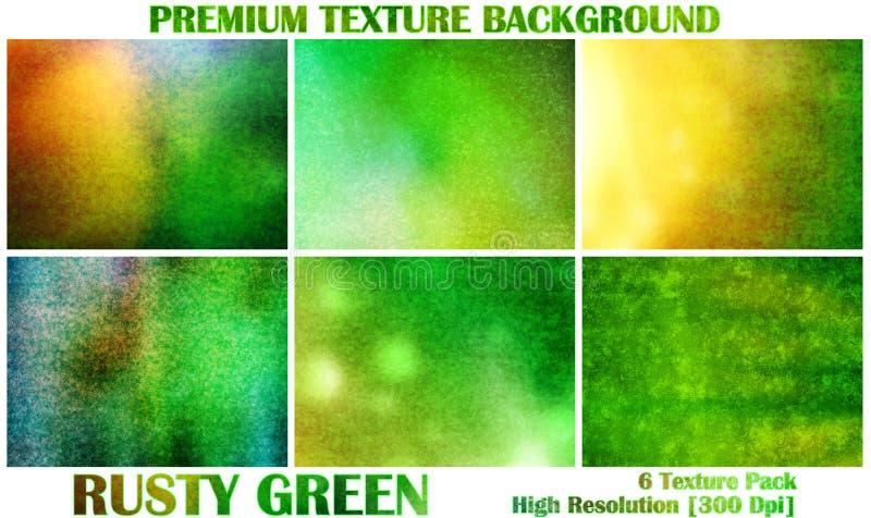 Papel pintado ornamental oriental del ejemplo del fondo del modelo de la textura de Rusty Green Yellow y de la luz del Grunge sup stock de ilustración