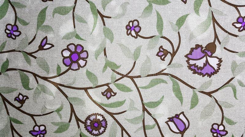 Papel pintado purpurino de las flores fotografía de archivo