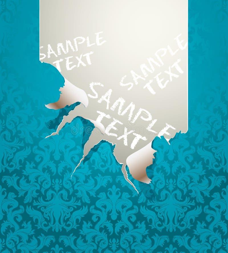 Papel pintado rasgado vector ilustración del vector