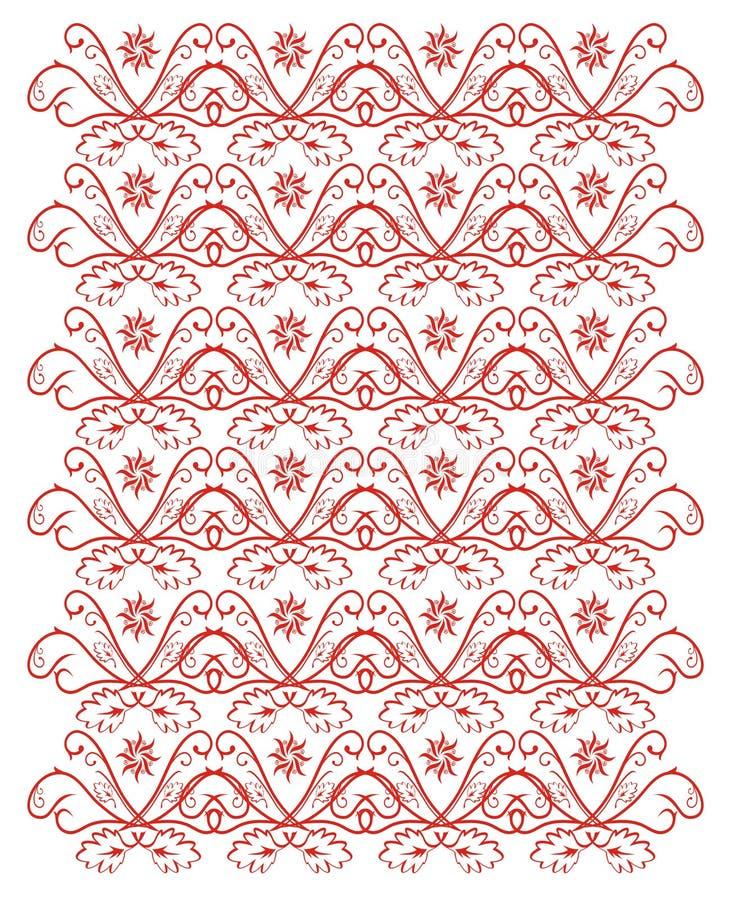 Papel pintado rojo ilustración del vector