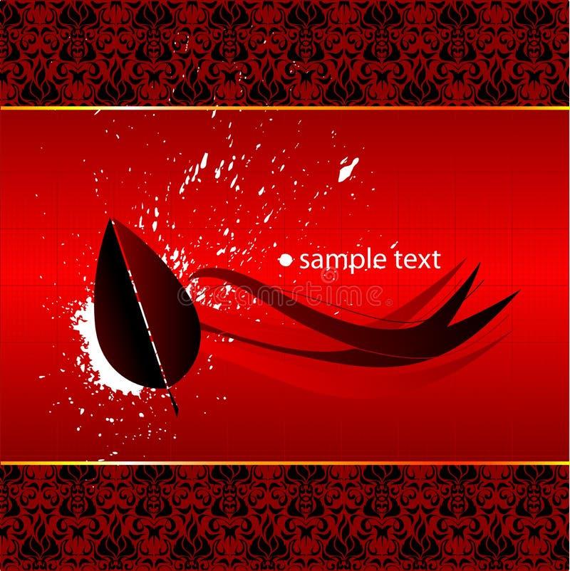 Papel pintado rojo abstracto stock de ilustración