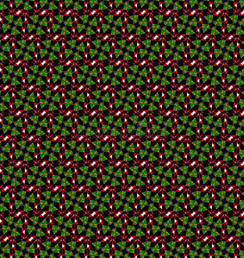 Papel pintado rojo verde del modelo de la Navidad imagen de archivo libre de regalías