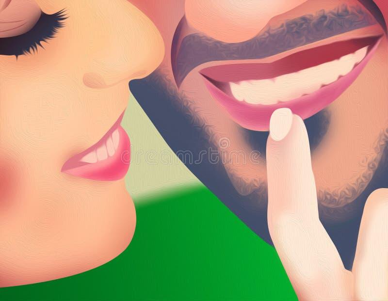 Papel pintado romántico del diseño de los pares del amor ilustración del vector