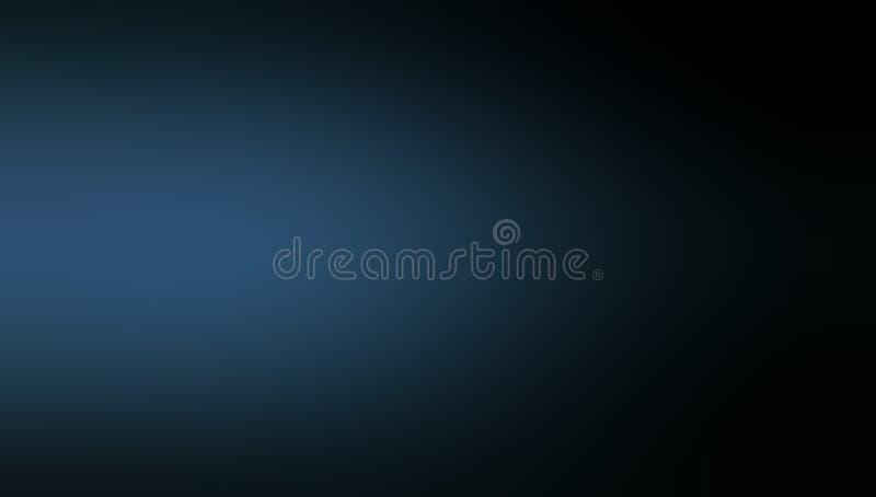 Papel pintado sombreado azul y negro del fondo de la falta de definición del color oscuro stock de ilustración