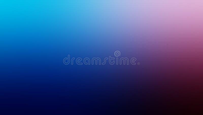 Papel pintado sombreado azul y rosado abstracto del fondo de la falta de definición ilustración del vector