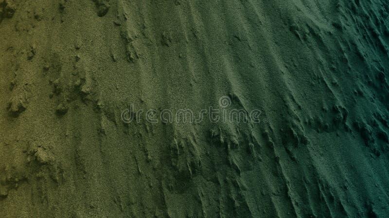 Papel pintado texturizado cemento marrón claro del fondo del extracto del color verde Ejemplo vivo del vector ilustración del vector