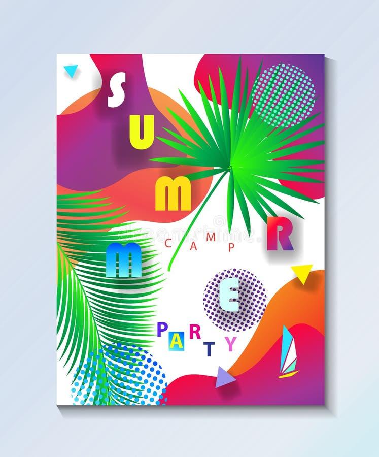 Papel pintado tropical del partido del campo de los niños del verano libre illustration