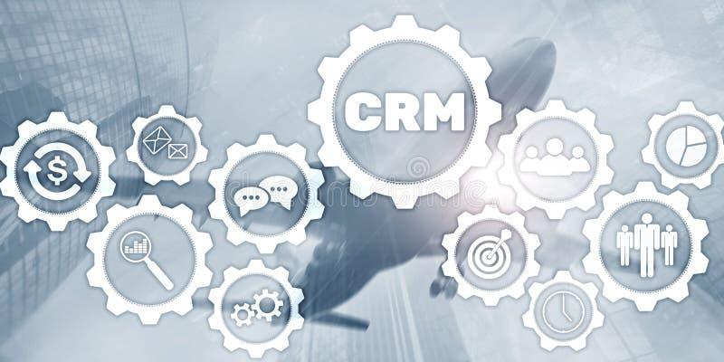 Papel pintado universal del negocio Concepto del servicio del análisis de la gestión de CRM del cliente libre illustration