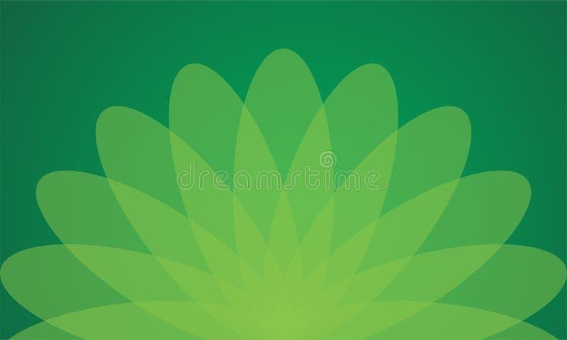 Papel pintado verde del fondo de la flor foto de archivo