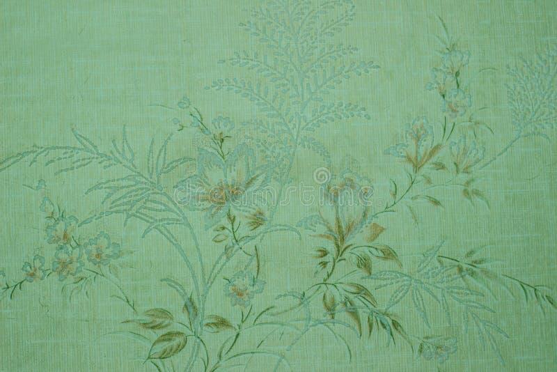 Papel pintado verde del vintage con el modelo del victorian de la ilustración stock de ilustración
