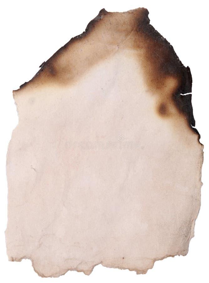 Papel queimado imagens de stock