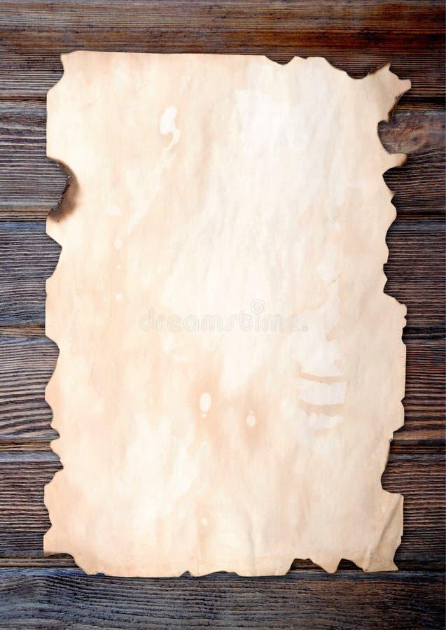 Papel queimado afiado imagens de stock