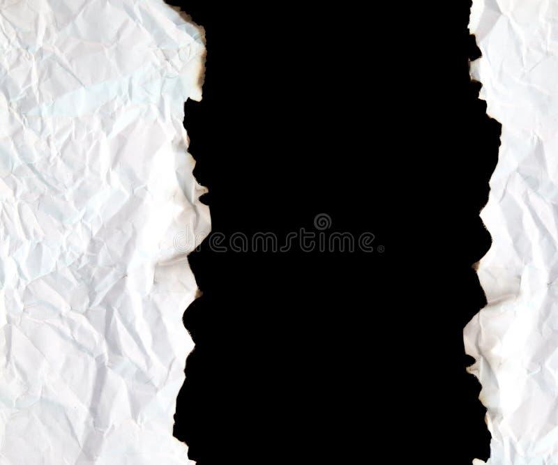 Papel queimado da borda com espaço para o texto fotografia de stock royalty free