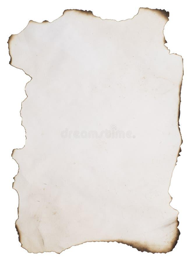 Papel queimado velho fotos de stock royalty free