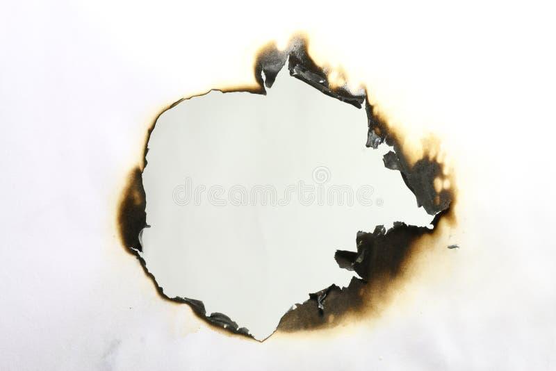 Papel quemado fotos de archivo