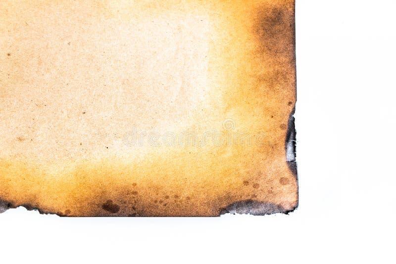 Papel quemado foto de archivo