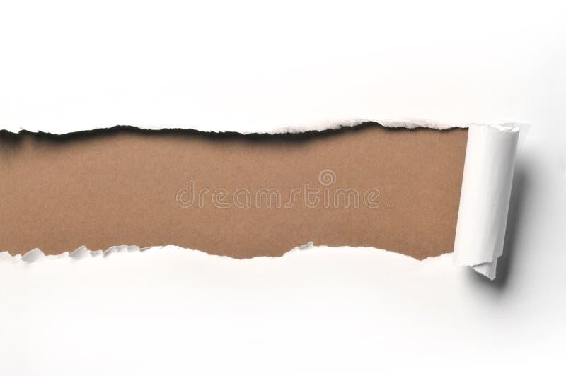 Papel rasgado imagens de stock