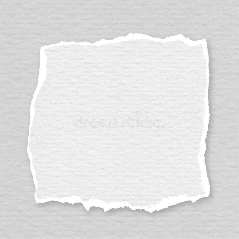 Papel rasgado ilustración del vector