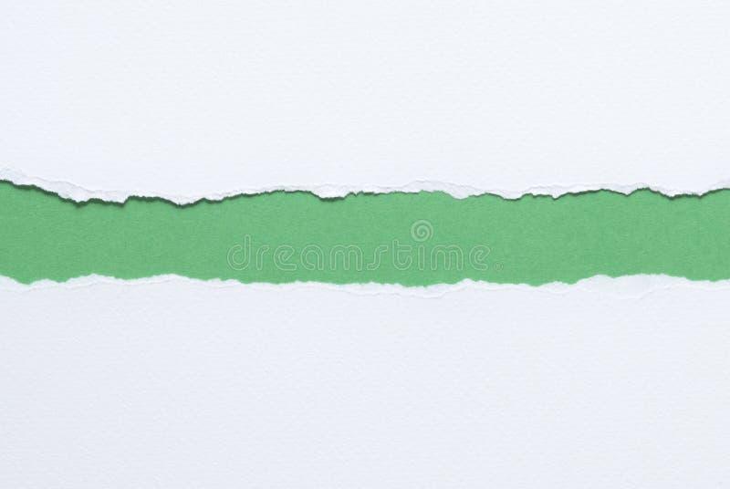 Papel rasgado blanco imagen de archivo