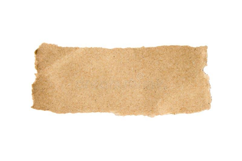 Papel rasgado Brown imagen de archivo