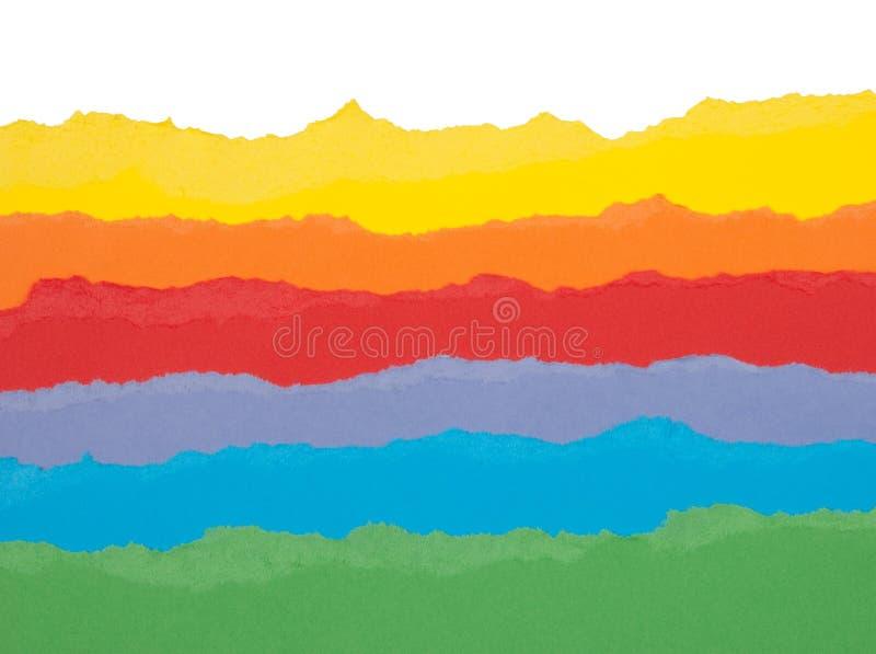 Papel rasgado colorido foto de stock