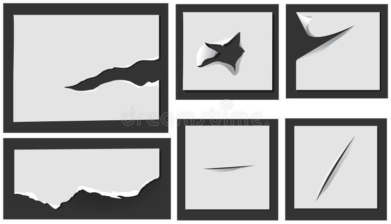 Papel rasgado con los agujeros libre illustration