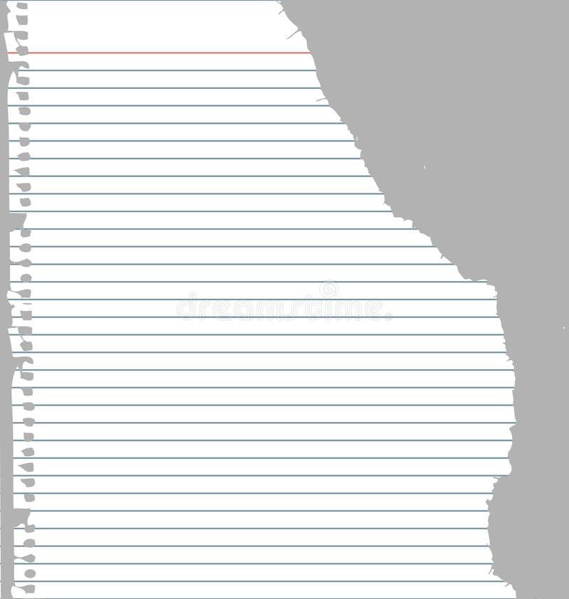 Papel rasgado del cuaderno libre illustration